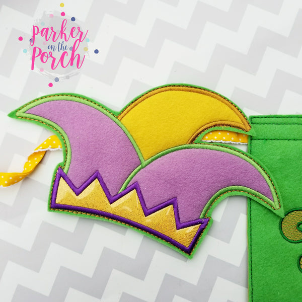 Digital Download- Jester Hat Banner ( Mardi Gras )