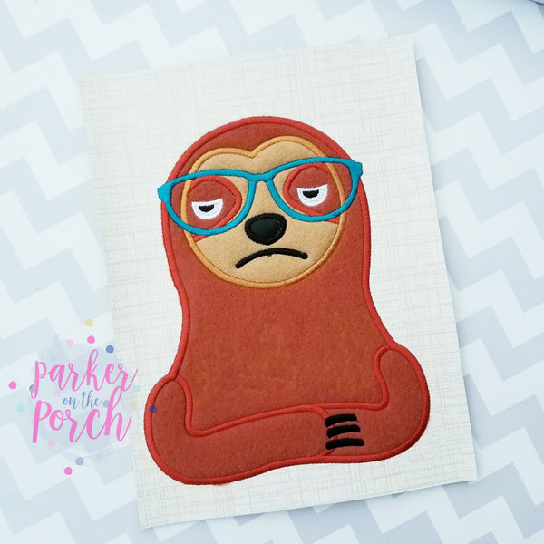 Digital Download- Snarky Sloth Applique