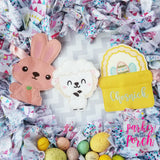 Digital Download- Easter Basket Banner - in the hoop machine embroidery ITH pattern