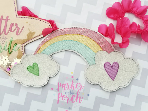Digital Download - Rainbow Banner - in the hoop machine embroidery