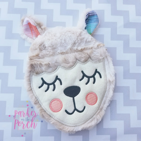 Digital Download - Llama Zipper Bag - in the hoop machine embroidery ITH pattern