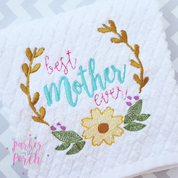 Digital Download- Best Mother Ever Embroidery Fill - in the hoop machine embroidery
