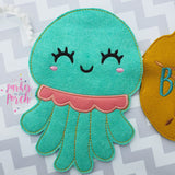Digital Download- Octopus Banner - in the hoop machine embroidery