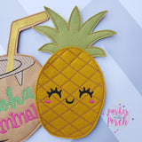 Digital Download- Pineapple Banner - in the hoop machine embroidery ITH pattern