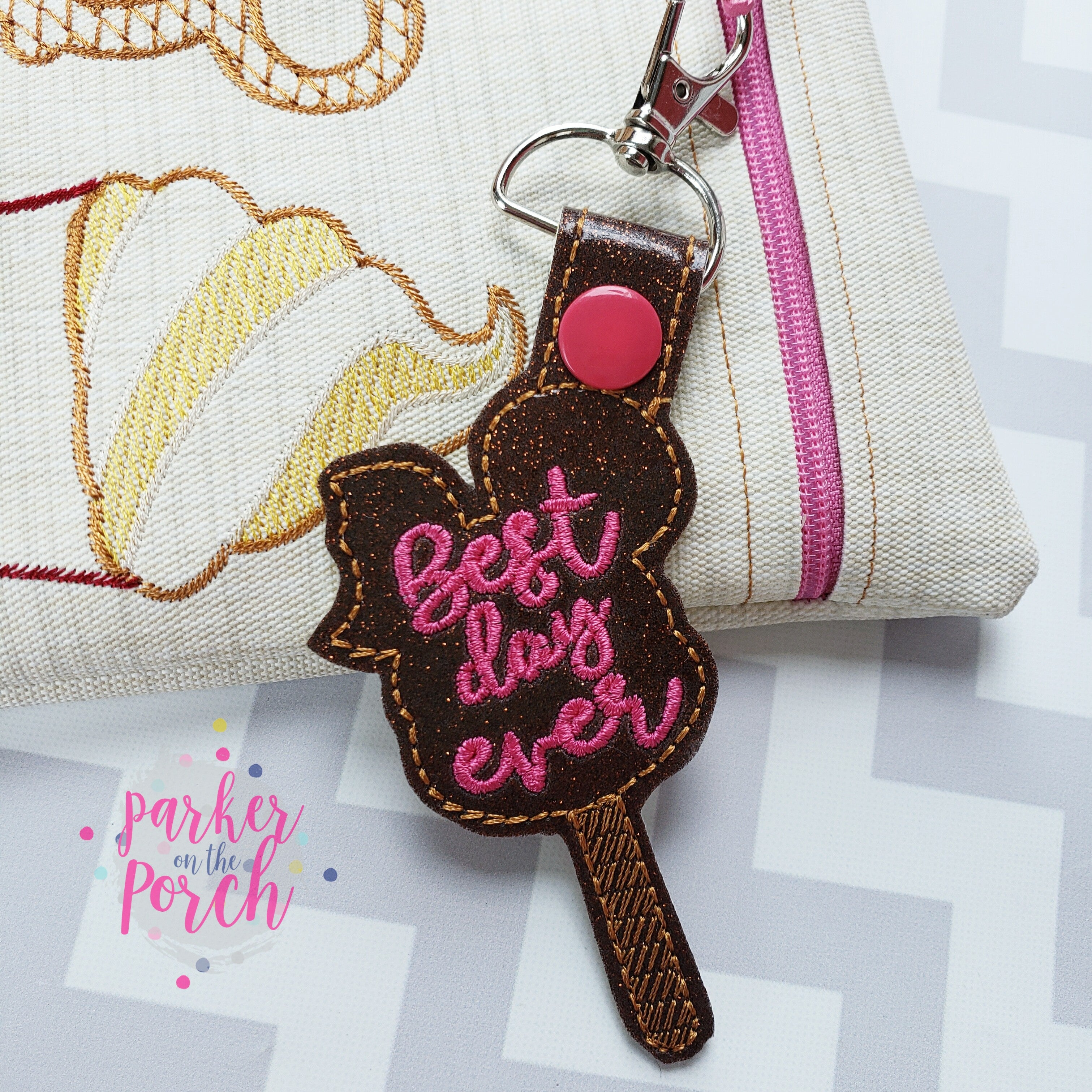 Digital Download- Magical Snacks- Ice Cream Snaptab - in the hoop machine embroidery ITH pattern