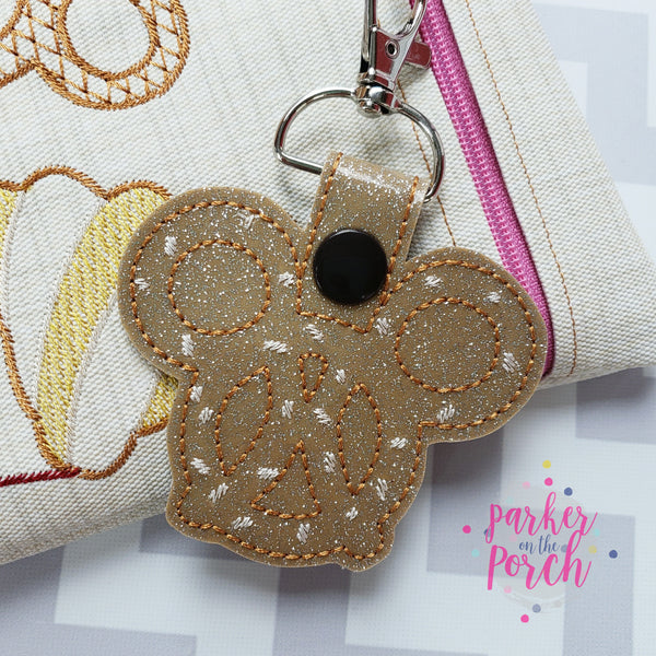 Digital Download - Magical Snacks- Pretzel Snaptab - in the hoop machine embroidery