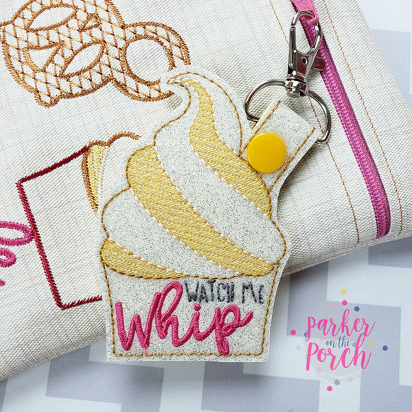 Digital Download- Magical Snacks- Whip Cup Snaptab - in the hoop machine embroidery