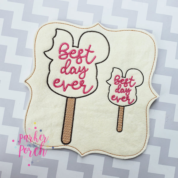 Digital Download- Magical Snacks - Ice Cream Embroidery Fill - in the hoop machine embroidery ITH pattern