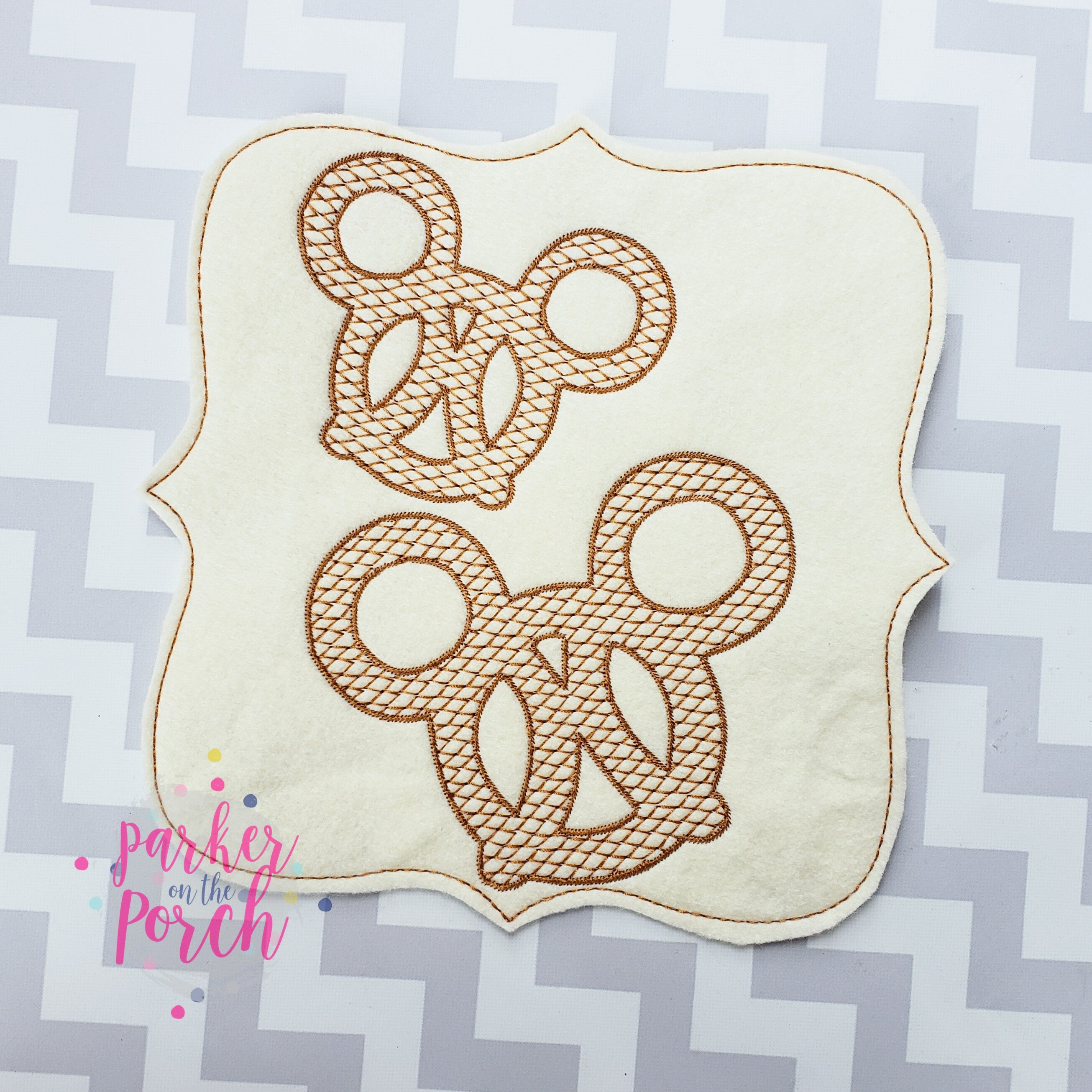 Digital Download- Magical Snacks- Pretzel Embroidery Fill - in the hoop machine embroidery ITH pattern