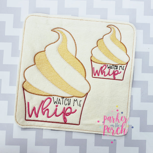 Digital Download- Magical Snacks- Whip Cup Embroidery Fill - in the hoop machine embroidery ITH pattern
