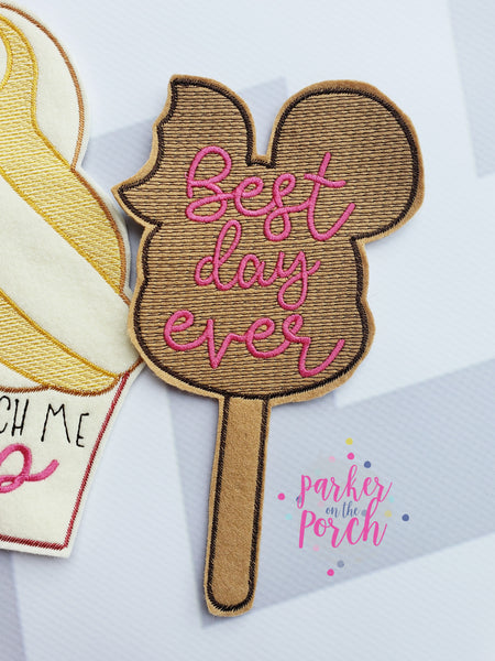 Digital Download- Magical Snacks- Ice Cream Banner - in the hoop machine embroidery ITH pattern