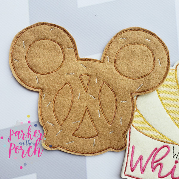 Digital Download- Magical Snacks- Pretzel Banner - in the hoop machine embroidery ITH pattern