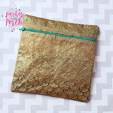 Digital Download - Ombre Scales Zipper Bag - Super SQUARES! - in the hoop machine embroidery ITH pattern