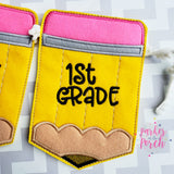 Digital Download- First / Last Day of School Banner - in the hoop machine embroidery
