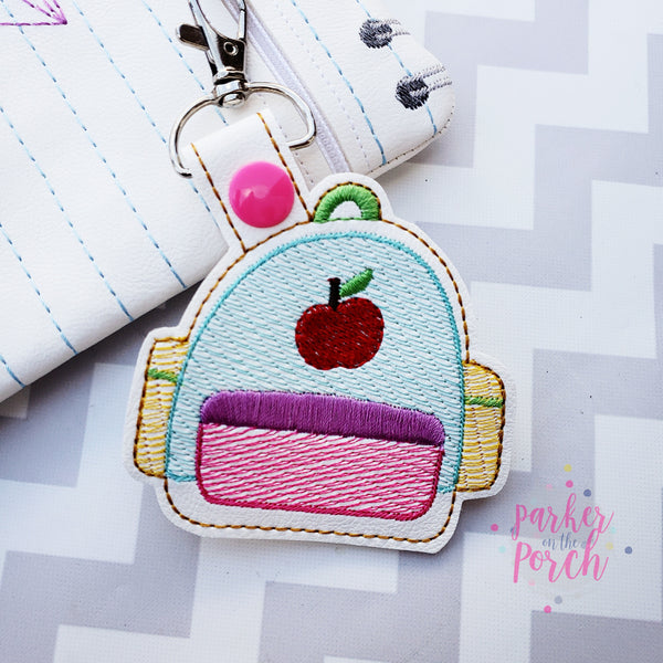 Digital Download - Backpack Snaptab - in the hoop machine embroidery ITH pattern