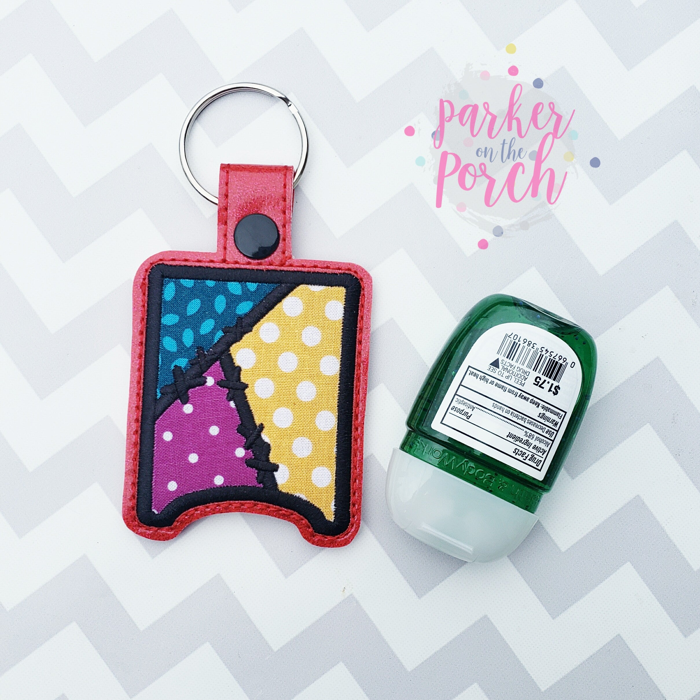 Digital Download- Magical Patchwork Pocket Bac Snaptab - in the hoop machine embroidery ITH pattern