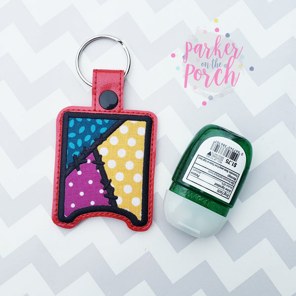 Digital Download- Magical Patchwork Pocket Bac Snaptab - in the hoop machine embroidery