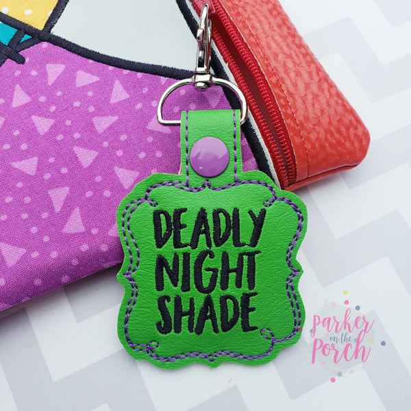 Digital Download- Magical Deadly Night Shade Snaptab - in the hoop machine embroidery