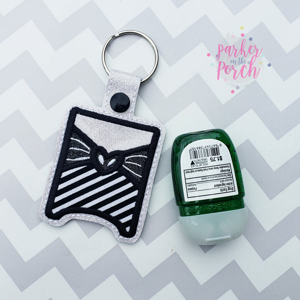 Digital Download- Magical Skeleton Pocket Bac Snaptab - in the hoop machine embroidery