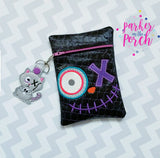 Digital Download - Zombie Zipper Bag - in the hoop machine embroidery ITH pattern