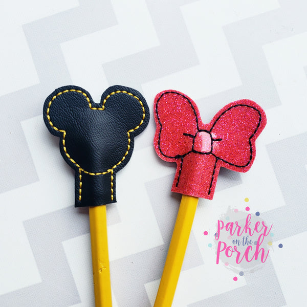 Digital Download- Magical Pencil Topper Set - in the hoop machine embroidery