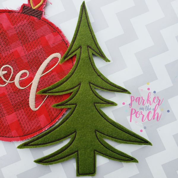 Digital Download- Lumberjack Tree Banner - in the hoop machine embroidery