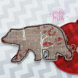 Digital Download- Bear Banner - in the hoop machine embroidery ITH pattern