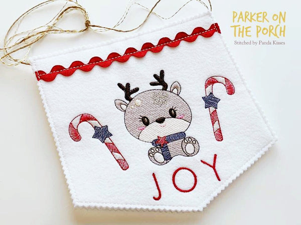 Digital Download- Reindeer Sketch Trio - in the hoop machine embroidery