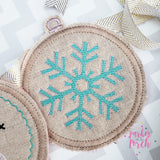Digital Download- Embroidery Hoop Banner- Winter Set - in the hoop machine embroidery