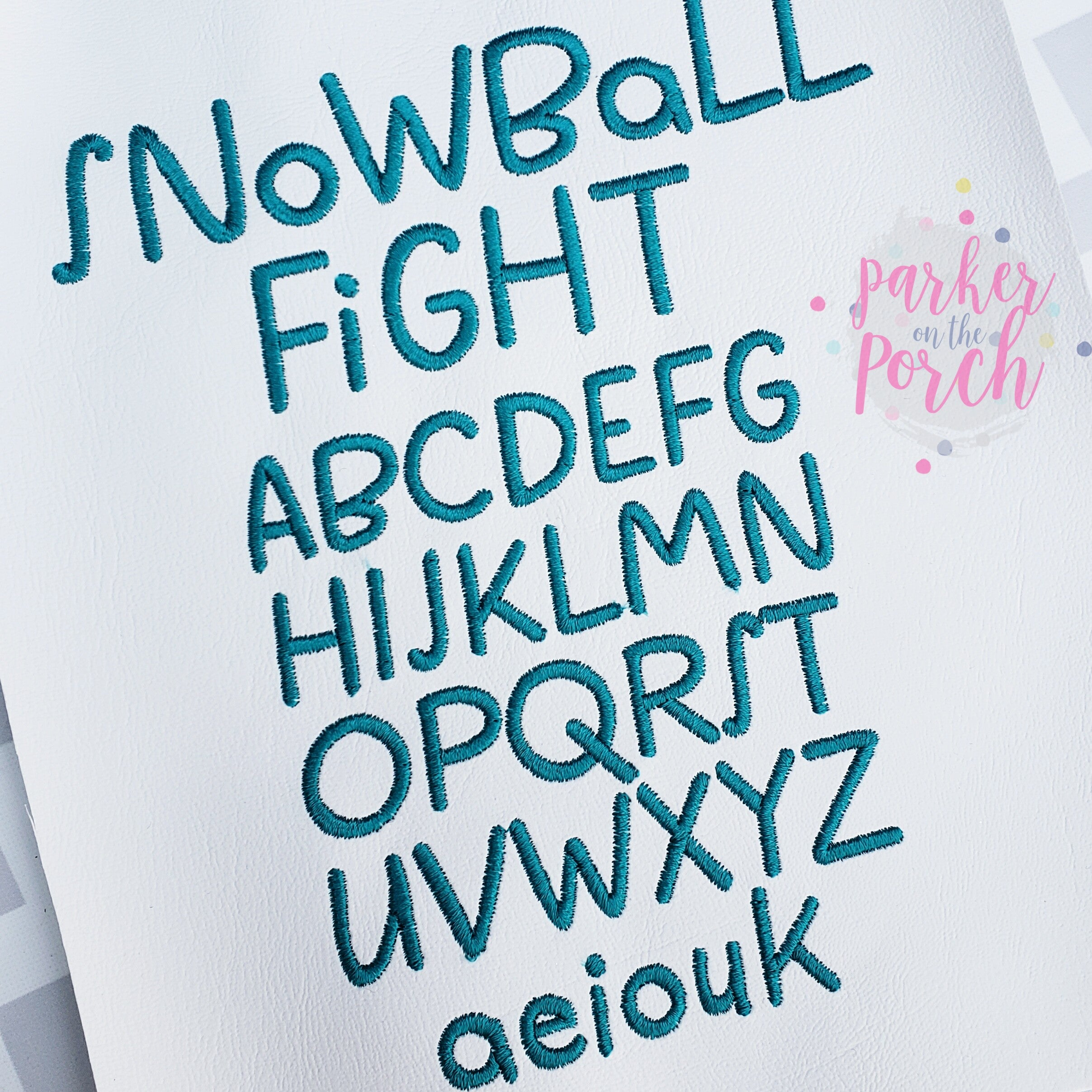 Digital Download- Snowball Fight Font - in the hoop machine embroidery ITH pattern