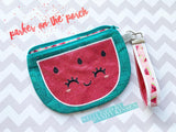Digital Download - Watermelon and Citrus Top Zip Bag Set - in the hoop machine embroidery ITH pattern