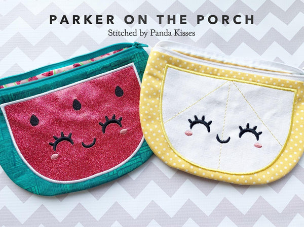 Digital Download- Watermelon and Citrus Top Zip Bag Set