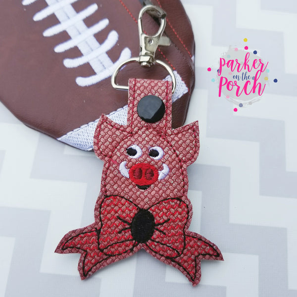 Digital Download- Cheer Bow Mascot- Hog Snaptab