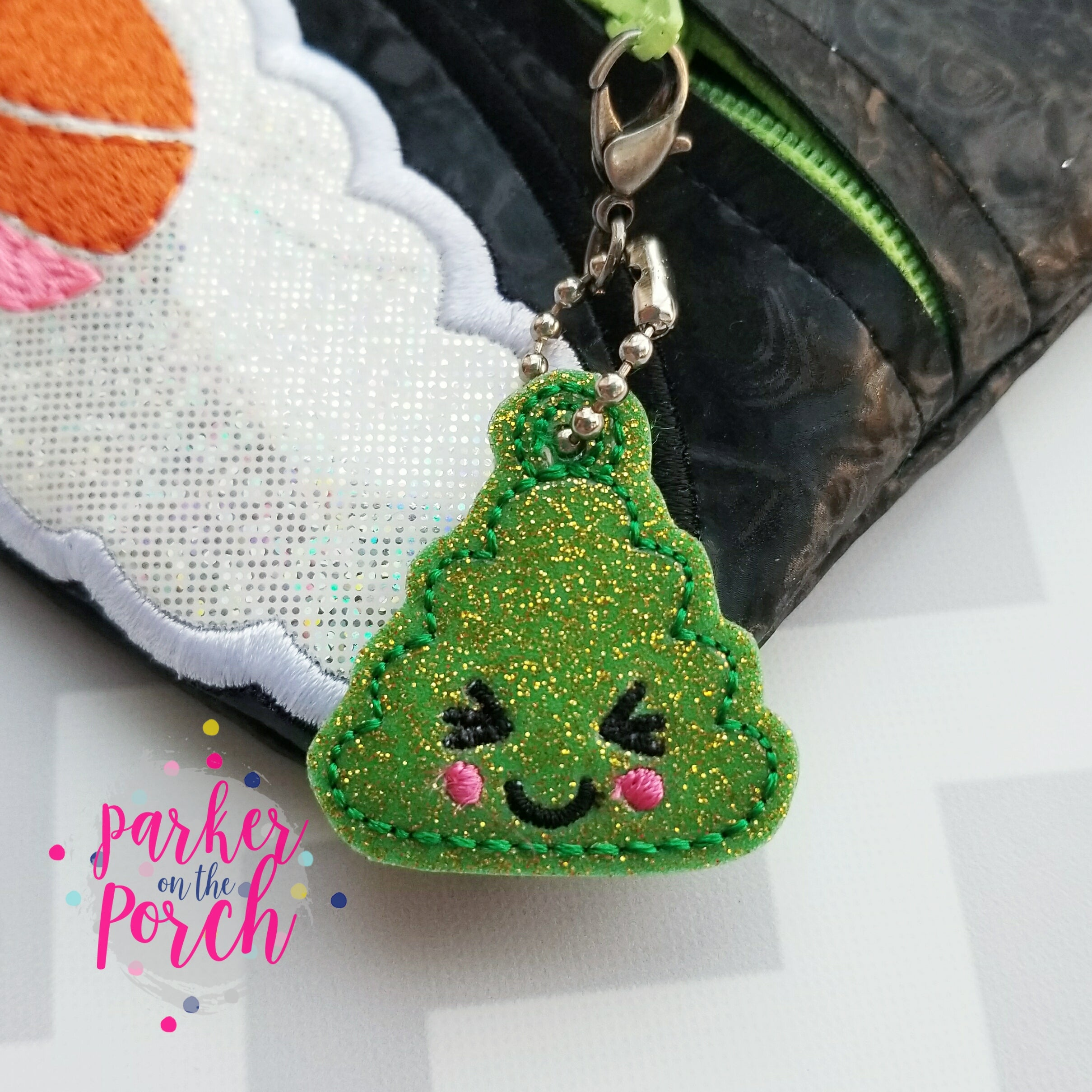 Digital Download - Wasabi Charm - in the hoop machine embroidery ITH pattern