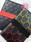 Digital Download- Dragon Scales Pocket Keepers set off 6 - in the hoop machine embroidery