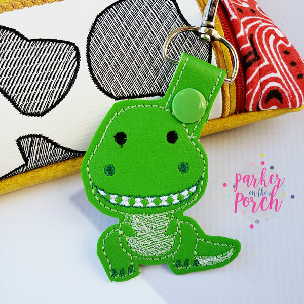 Digital Download- Magical Toys- Dino Snaptab - in the hoop machine embroidery