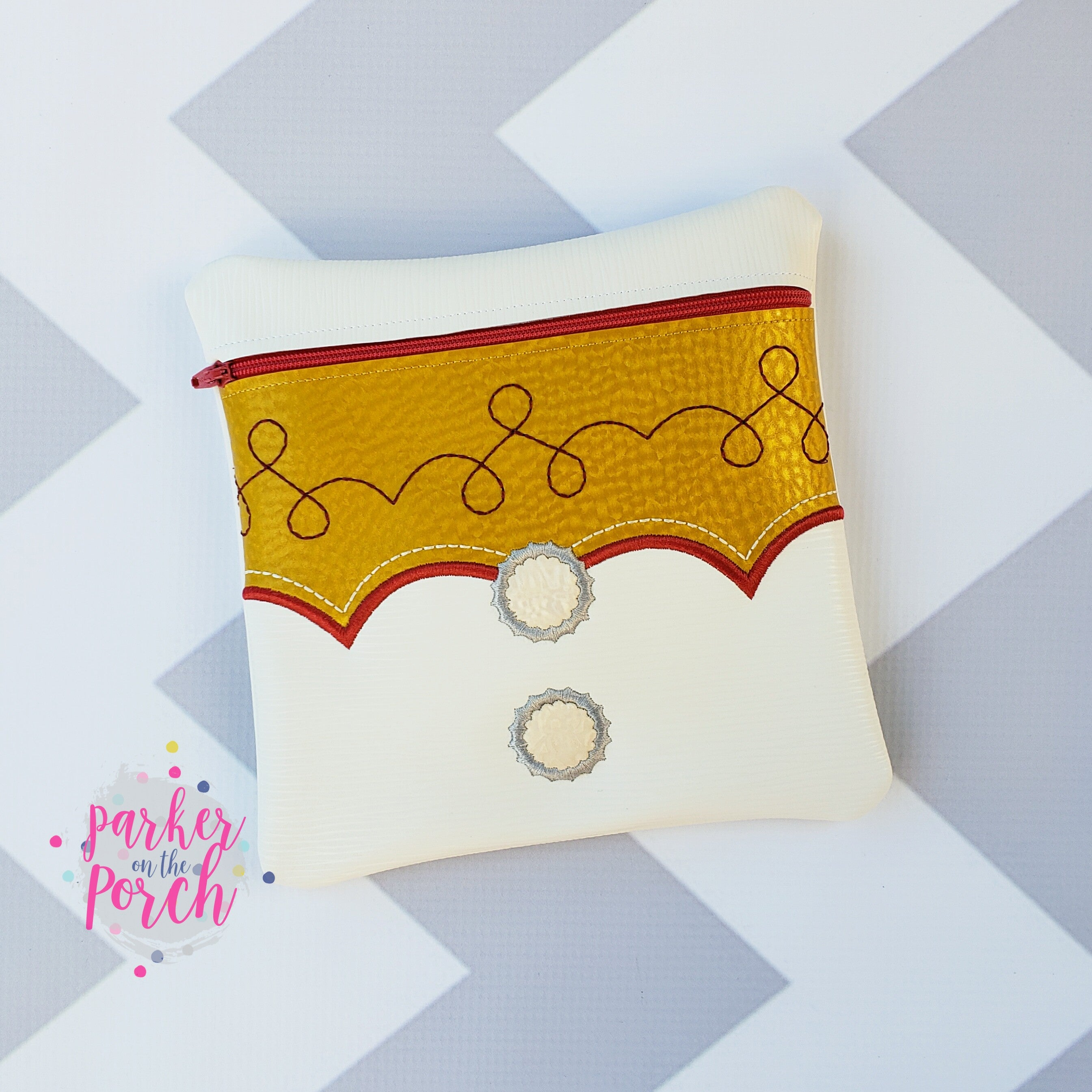 Digital Download- Magical Toys - Cowgirl Zipper Bag - in the hoop machine embroidery ITH pattern