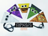 Digital Download- Boo Crew Pennant Banner - in the hoop machine embroidery ITH pattern
