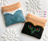 Digital Download- Magical Snow Sisters Zipper Bag Bundle - in the hoop machine embroidery ITH pattern