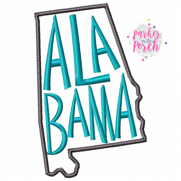 Digital Download- Home State Alabama Embroidery Fill