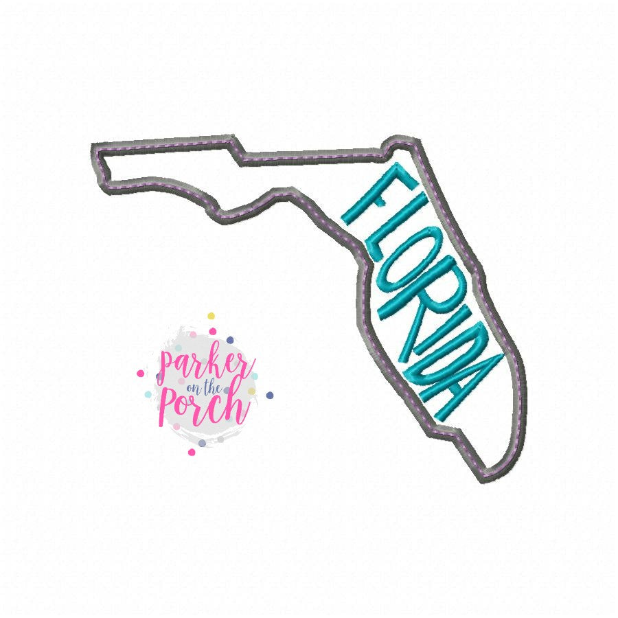Digital Download- Home State Florida Embroidery Fill - in the hoop machine embroidery ITH pattern