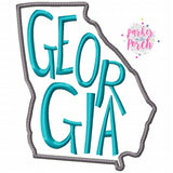 Digital Download- Home State Georgia Embroidery Fill - in the hoop machine embroidery