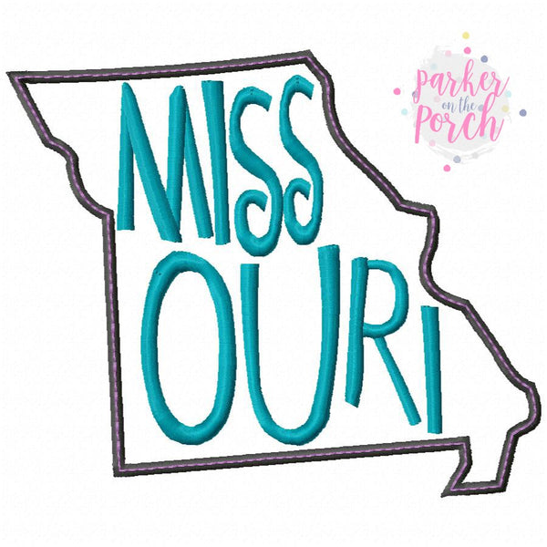 Digital Download- Home State- Missouri Embroidery Fill