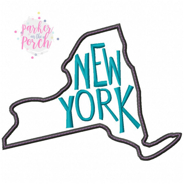 Digital Download- Home State- New York Embroidery Fill