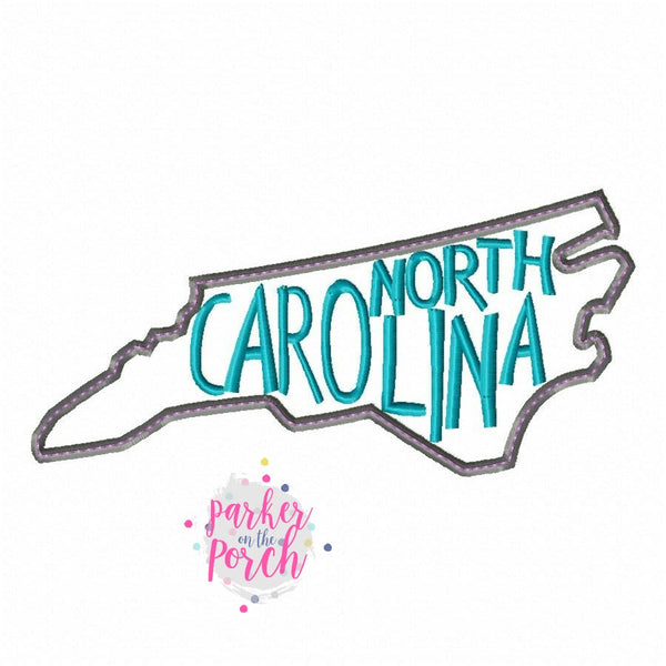 Digital Download- Home State North Carolina Embroidery Fill - in the hoop machine embroidery ITH pattern
