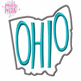 Digital Download- Home State Ohio Embroidery Fill - in the hoop machine embroidery ITH pattern