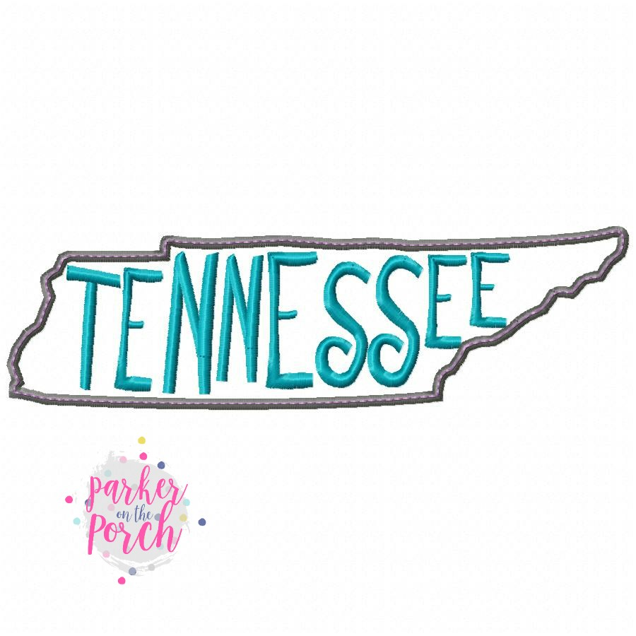 Digital Download- Home State Tennessee Embroidery Fill - in the hoop machine embroidery