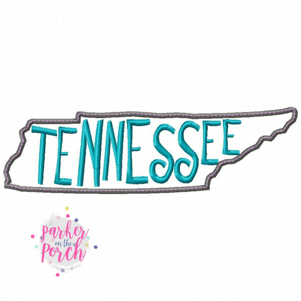 Digital Download- Home State Tennessee Embroidery Fill - in the hoop machine embroidery ITH pattern
