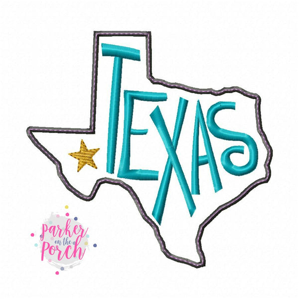 Digital Download- Home State Texas Embroidery Fill - in the hoop machine embroidery ITH pattern