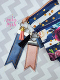 Digital Download- Keyfob Flag Fobs - in the hoop machine embroidery